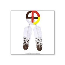 Medicine Wheel w/ Feathers Rectangle Sticker