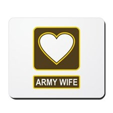 Army Wife Logo Mousepad