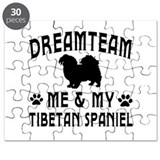 Tibetan Spaniel Dog Designs Puzzle