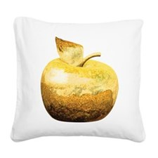 Golden Apple Square Canvas Pillow