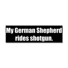 My German Shepherd rides shotgun (Magnet)