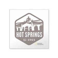 "Hot Springs Square Sticker 3"" x 3"""