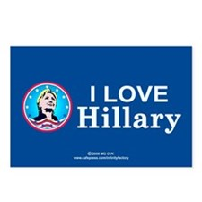 I Love Hillary Postcards (Package of 8)