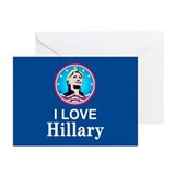 I Love Hillary Greeting Cards (Pk of 10)