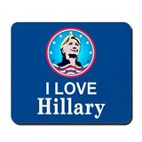 I Love Hillary Mousepad