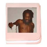 Dennis Brown Topless baby blanket