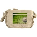 Green Volleyball Net Messenger Bag
