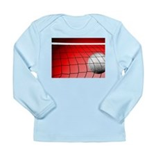 Red Volleyball Net Long Sleeve Infant T-Shirt