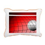 Red Volleyball Net Rectangular Canvas Pillow