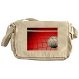 Red Volleyball Net Messenger Bag