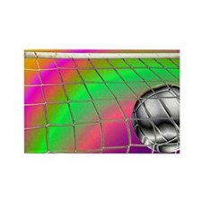 Rainbow Volleyball Net Rectangle Magnet
