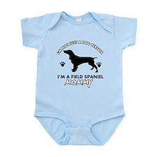 Field Spaniel dog breed designs Infant Bodysuit