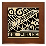 Se Feliz-Abstract Wall Art Framed Tile