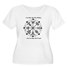Pagan Wheel of the Year T-Shirt Plus Size T-Shirt