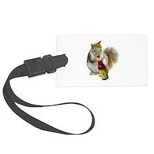 Squirrel Acorn Beer Luggage Tag