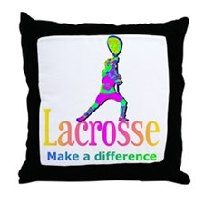 Lacrosse Goalie Make A Difference Throw Pillow