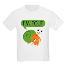 Fourth Birthday Hermit Crab T-Shirt