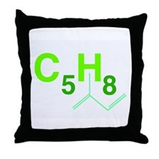 isoprene Throw Pillow