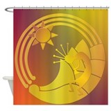 Kokopelli under the Sun Shower Curtain