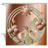 Bronze Sun Shower Curtain
