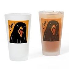 Crow Alert Drinking Glass