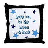 Love You to the Moon & Back Throw Pillow