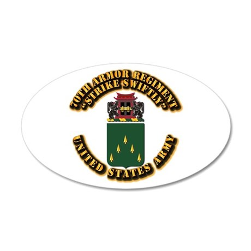 COA - 70th Armor Regiment 20x12 Oval Wall Decal