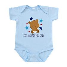 1st Memorial Day Bear Infant Bodysuit