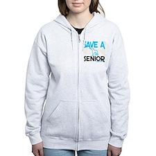 Save a senior Zip Hoodie