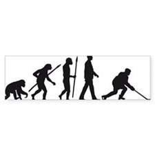 evolution of man hockey player Bumper Bumper Sticker