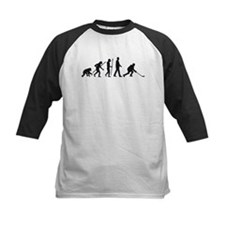 evolution of man hockey player Baseball Jersey