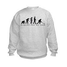 evolution of man hockey player Sweatshirt