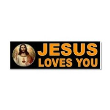JESUS SAVIOUR Car Magnet 10 x 3