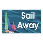 TOP Sail Away Sticker (Rectangle 50 pk)