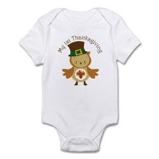 My 1st Thanksgiving Owl Infant Bodysuit