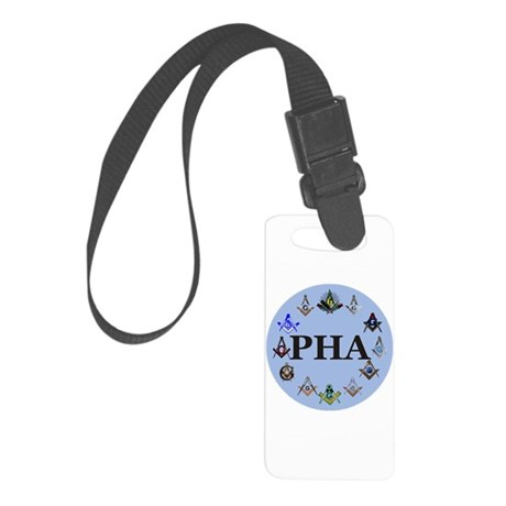 PHA Square and Compass Small Luggage Tag