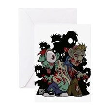 Zombies Attack! Greeting Card