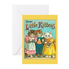 Three Little Kittens Greeting Cards (Pk of 10)