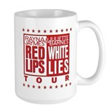 Red Lips White Lies Ceramic Mugs