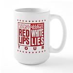 Red Lips White Lies Large Mug