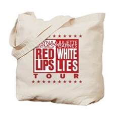 Red Lips White Lies Tote Bag