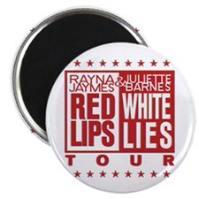 Red Lips White Lies Magnet
