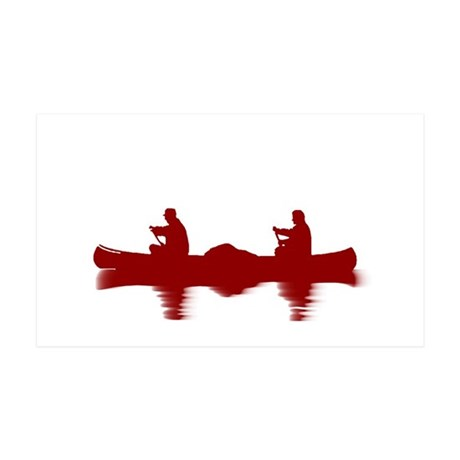 RED CANOE 35x21 Wall Decal