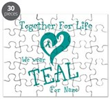 Personalize Teal TFL Puzzle