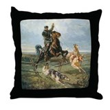Russian Borzoi Hunt Throw Pillow