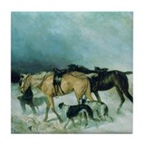 The Storm Borzoi Tile Coaster