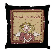 Moms Are Angels Throw Pillow