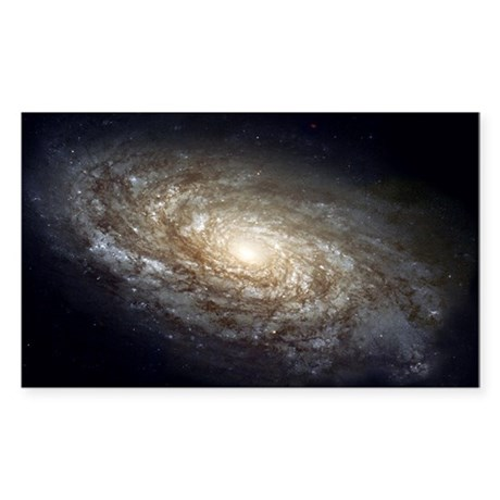NGC 4414 Spiral Galaxy Oval Sticker