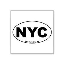 New York City (NYC) Oval Sticker
