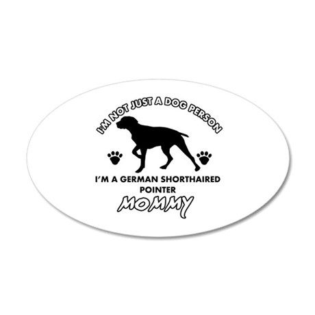 German Shorthared dog breed designs 35x21 Oval Wal